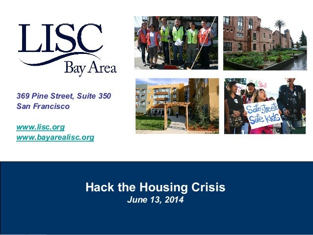LISC Bay Area Presents Solutions To  San Francisco Housing Crisis
