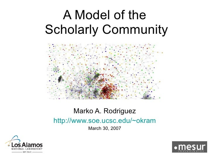 A Model of the Scholarly Community