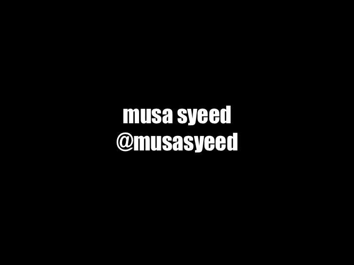 musa syeed@musasyeed