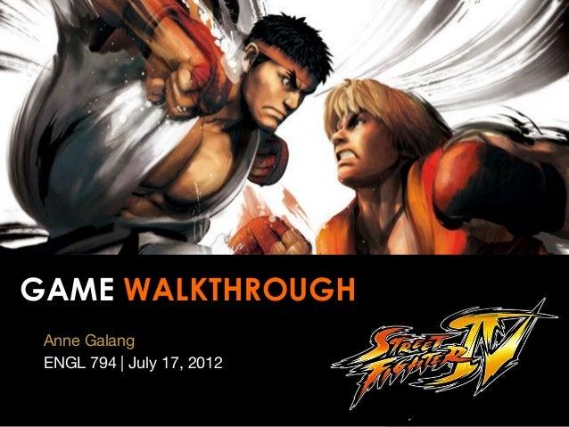 Street Fighter - Game Walkthrough