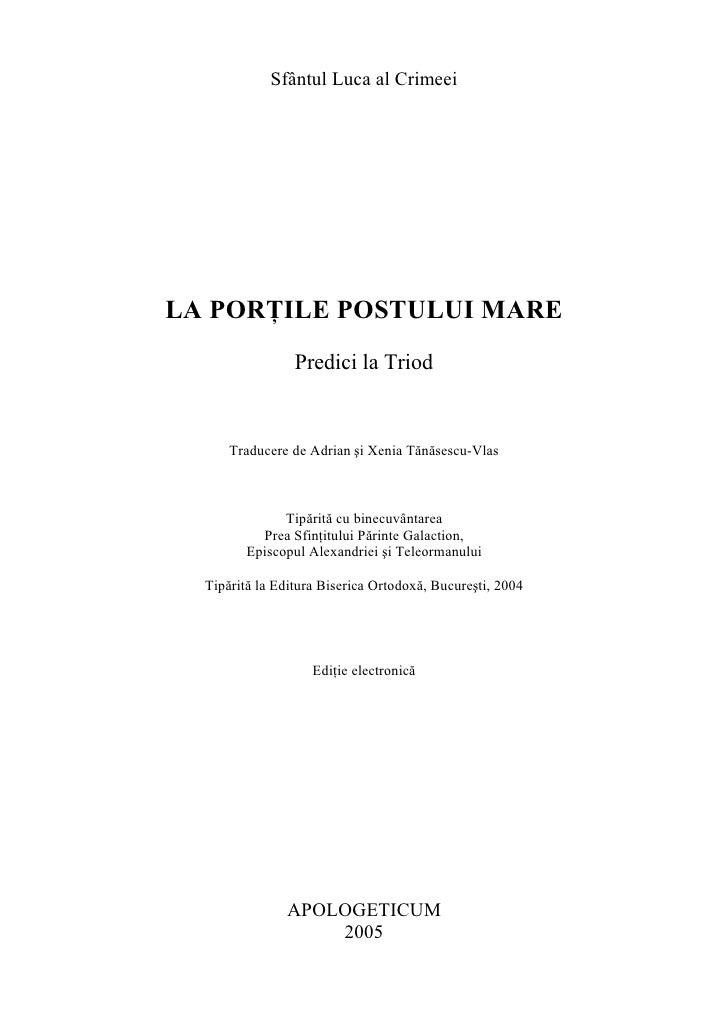 Sf Luca al Crimeei - Predici la Triod.pdf
