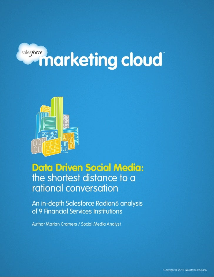 Data Driven Social Media for Financial Services Institutions