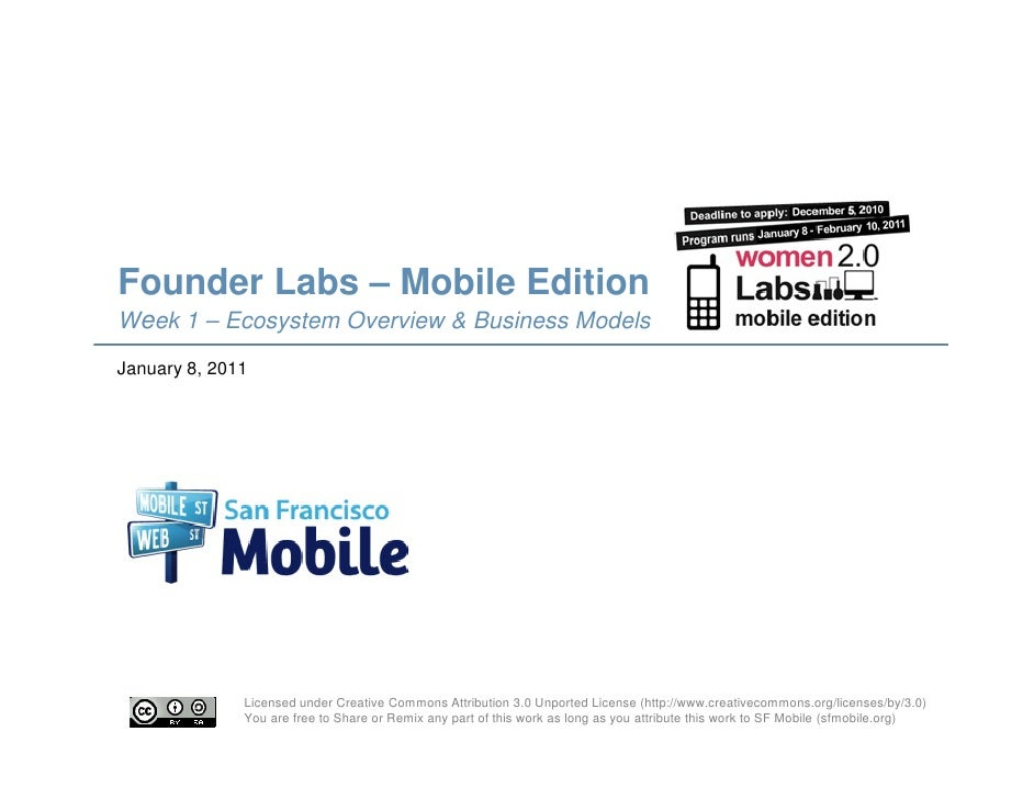 SFMobile: Founder Labs Mobile Edition 01/09/11