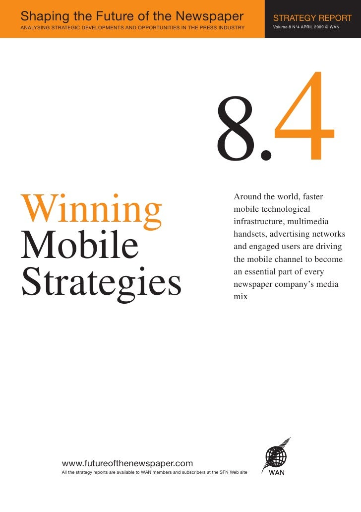 Доклад SFN 8.4. -  Эффективные мобильные стратегии / Winning Mobile Strategies