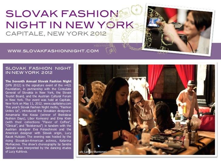Newsletter SLOVAK FASHION NIGHT 2012