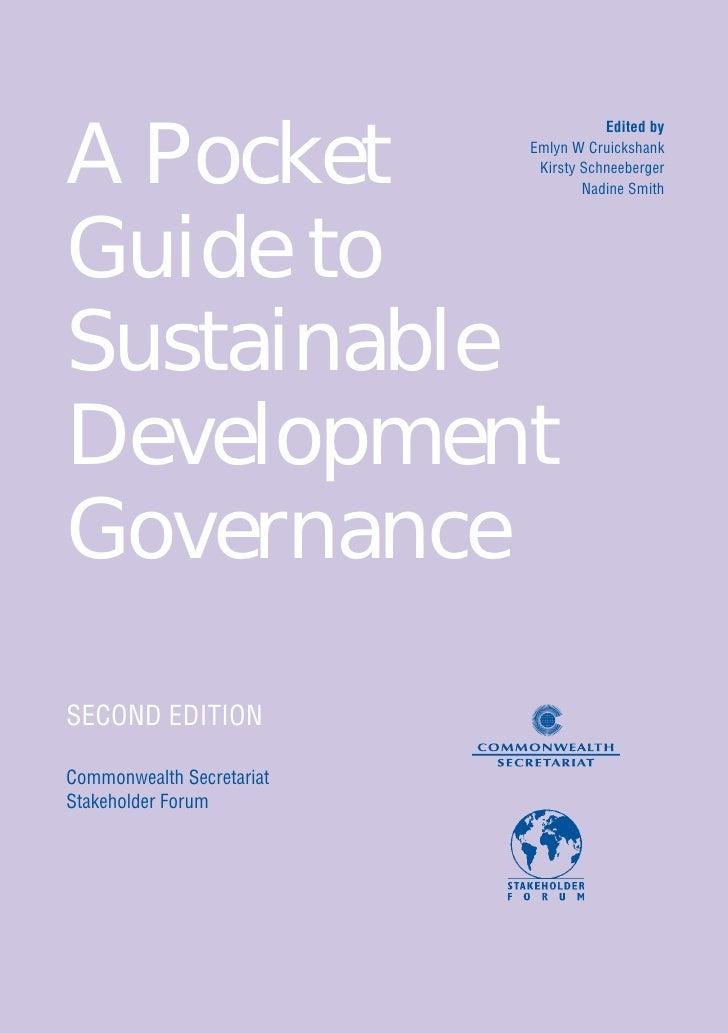 Stakeholder Forum- Pocket Guide to Sustainable Development Governance