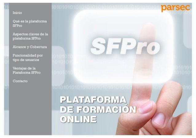 Sistema de formación online SFPro (Plataforma de e-learning)
