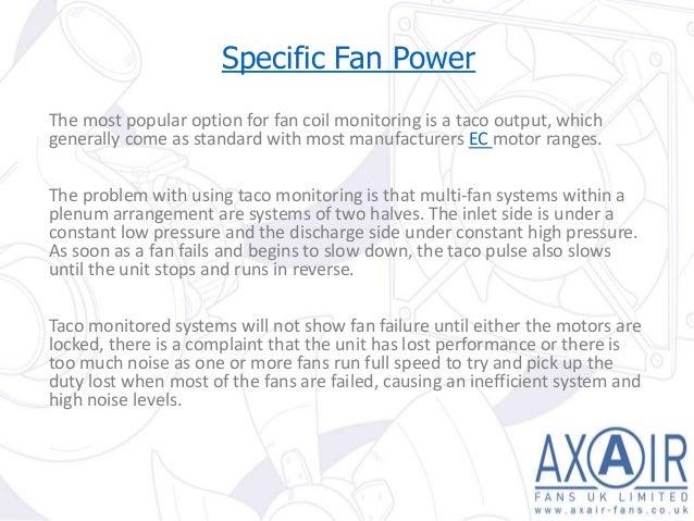 Specific Fan Power : Understanding specific fan power