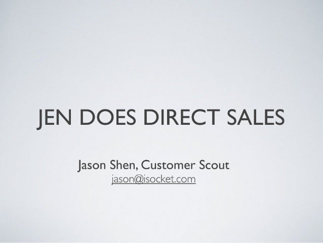 Jen Does Direct Sales - an SF Ad Publisher meetup prezo by isocket