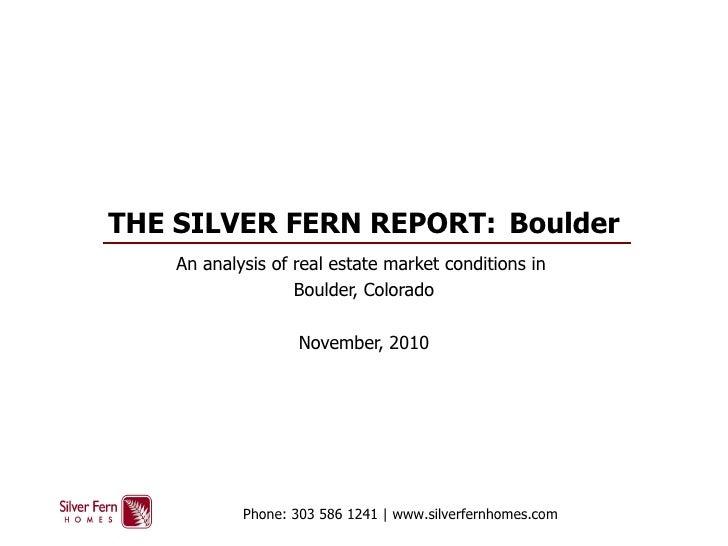 Boulder Real Estate Research - SF Report
