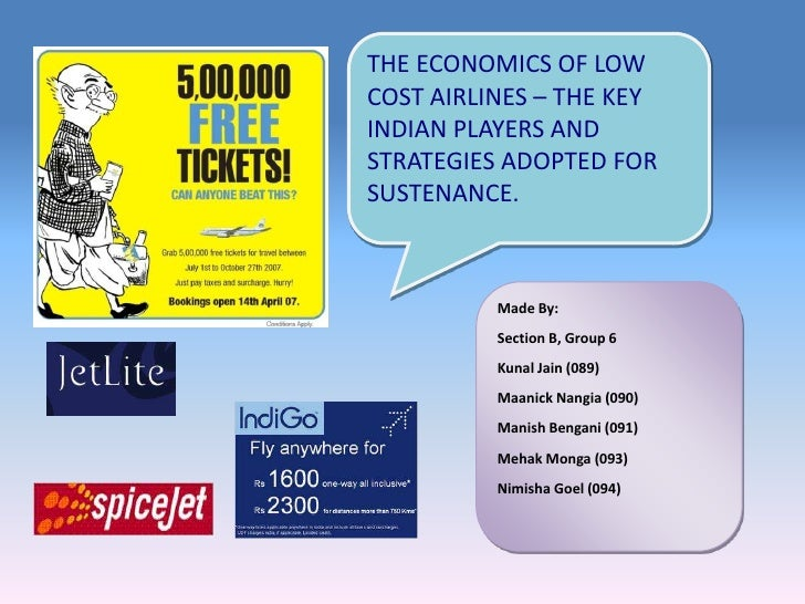 Low cost airlines in INdia