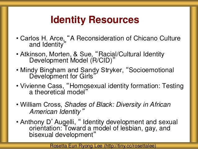 racial identity development model essay This chapter incorporates this broader approach to hispanic racial identity  their-views-of-identity/ ↩ the pew research center's 2014 national essay.