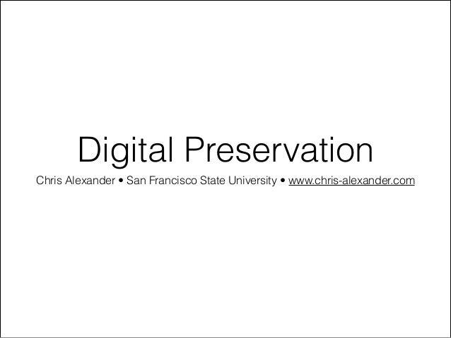 SFSU - Digital Preservation