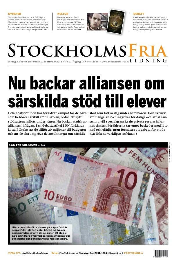 Stockholm Fria Lördag 21 september, Nr 37
