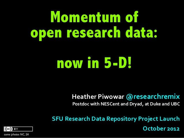 Momentum of                     open research data:                          now in 5-D!                                 H...