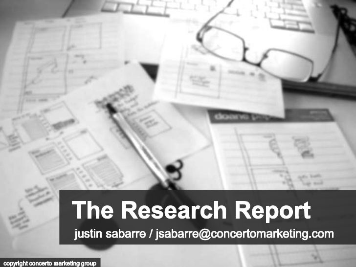 The Research Report                      November 23rd, 2011