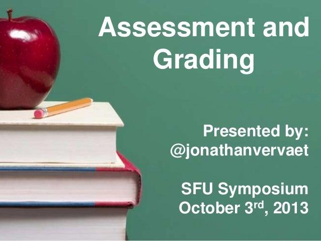 SFU Symposium / Keynote October 3rd, 2013