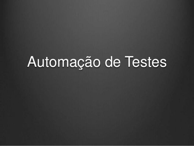 Automação de Testes
