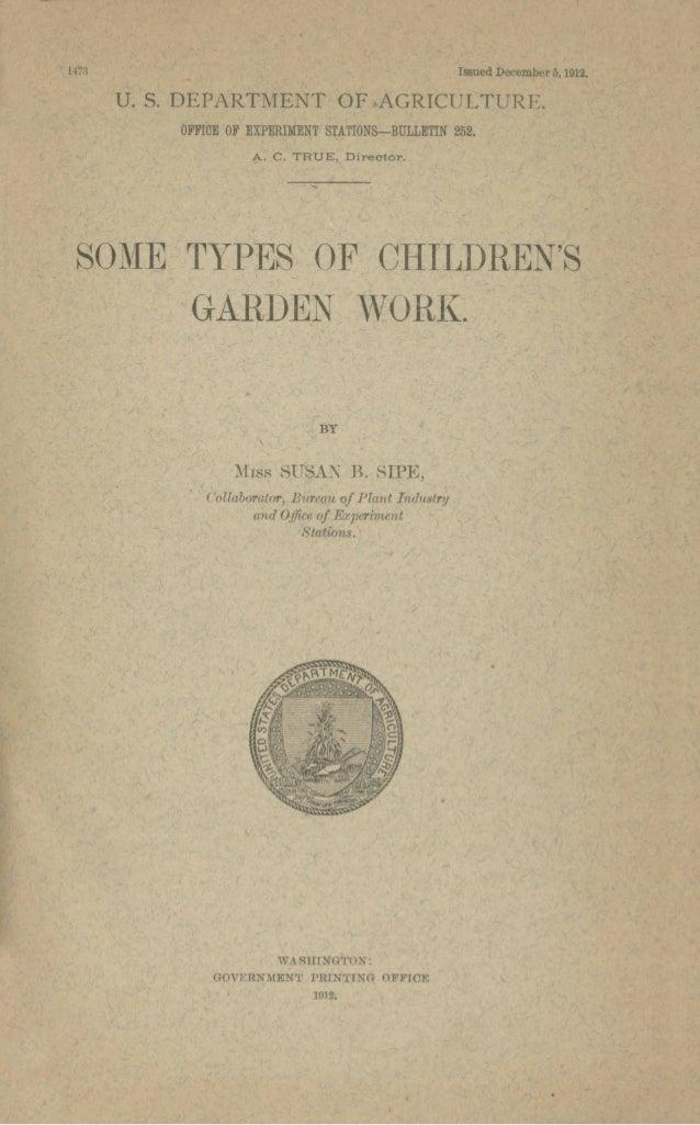 Some Types of Children's School Garden Work