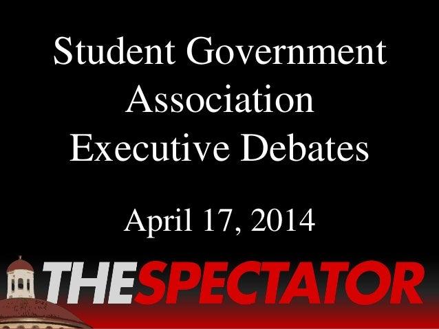 SGA Executive Debates: Spring 2014
