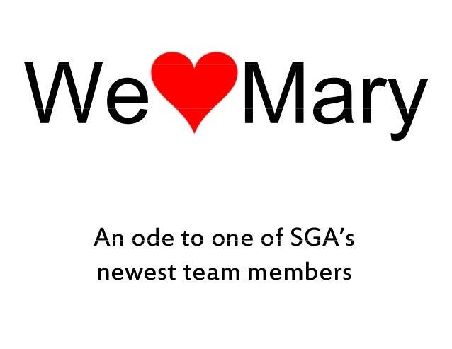 We (heart) Mary
