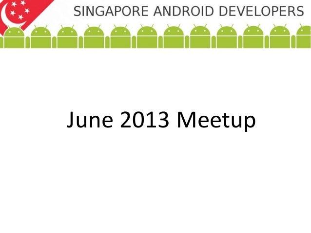 June 2013 Meetup