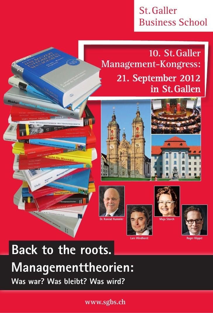 St.Galler                                                  Business School                                 10. St.Galler...