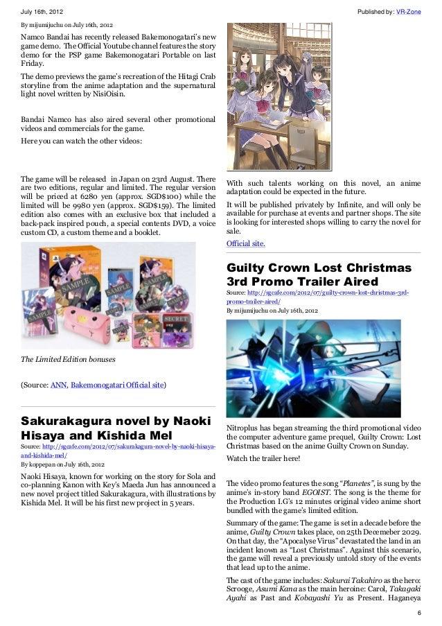 SGcafe Anime, Manga, Cosplay, Vocaloid News For Otaku 2012 Issue 2