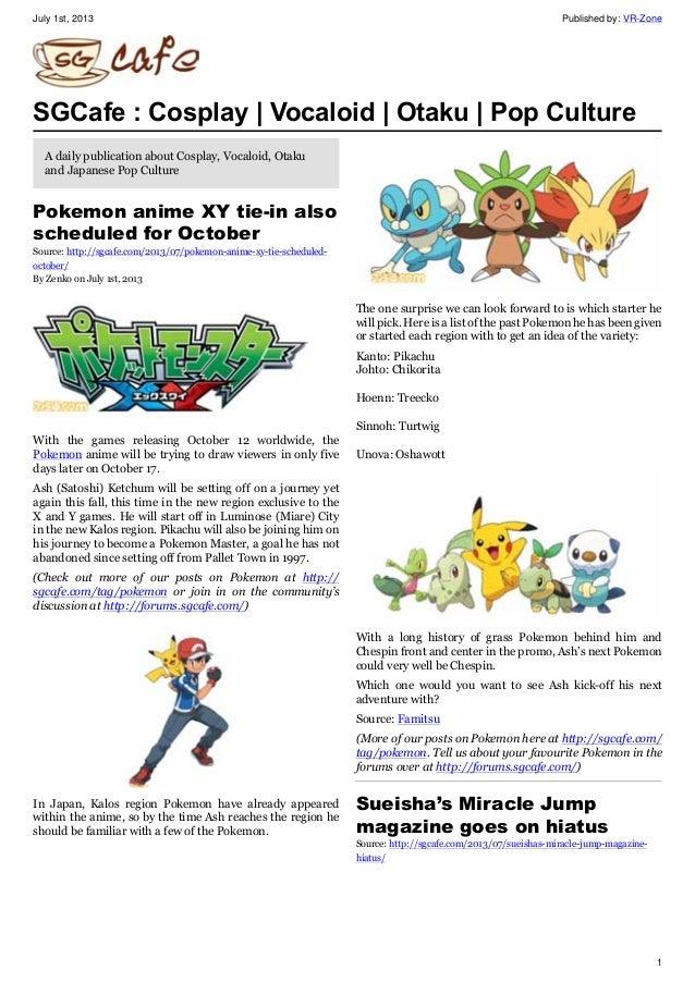 SGcafe Anime News For Otaku Jul 2013 Issue