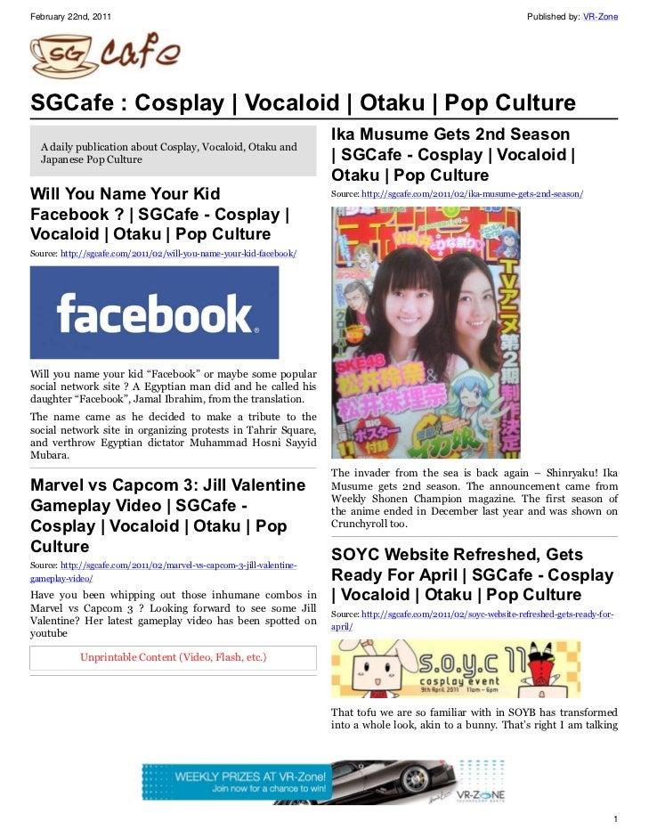 SGCafe - Cosplay   Vocaloid   Otaku   Pop Culture   Anime