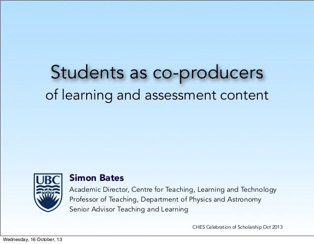 Students as co-producers of learning and assessment content