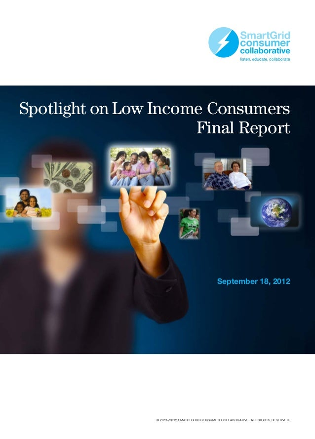 Spotlight on Low Income Consumers                      Final Report                                               Septembe...