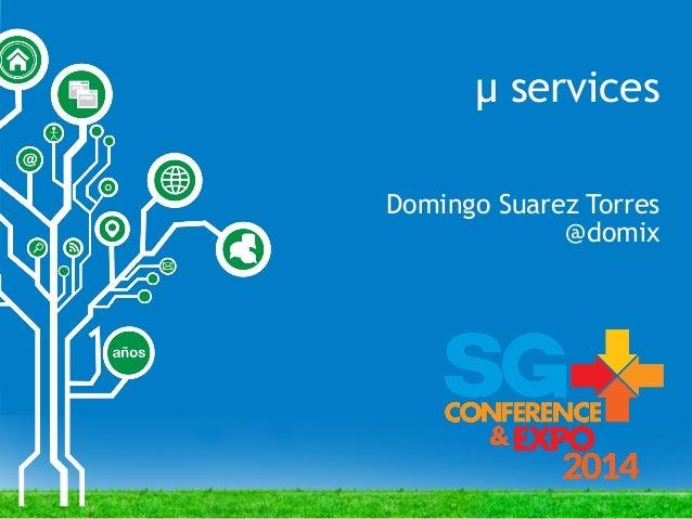 SGCE 2014 micro services