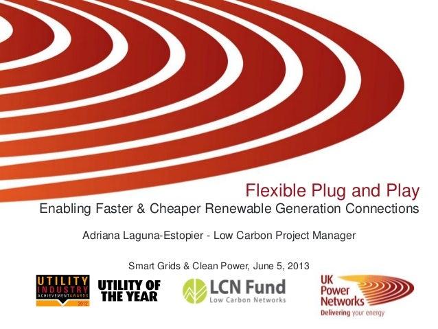Flexible Plug and PlayEnabling Faster & Cheaper Renewable Generation ConnectionsAdriana Laguna-Estopier - Low Carbon Proje...