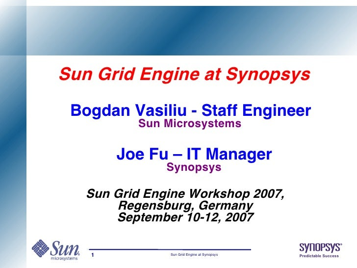 Sun Grid Engine at Synopsys