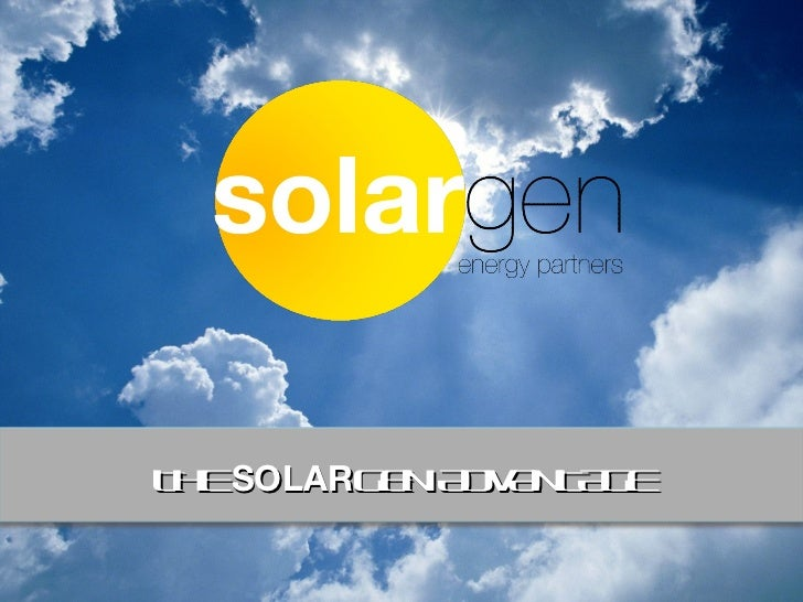 SolarGen Energy Partners Presentation