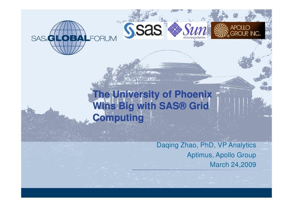 SAS Cloud Computing and MapReduce