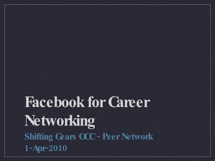 Facebook for Professional Networking