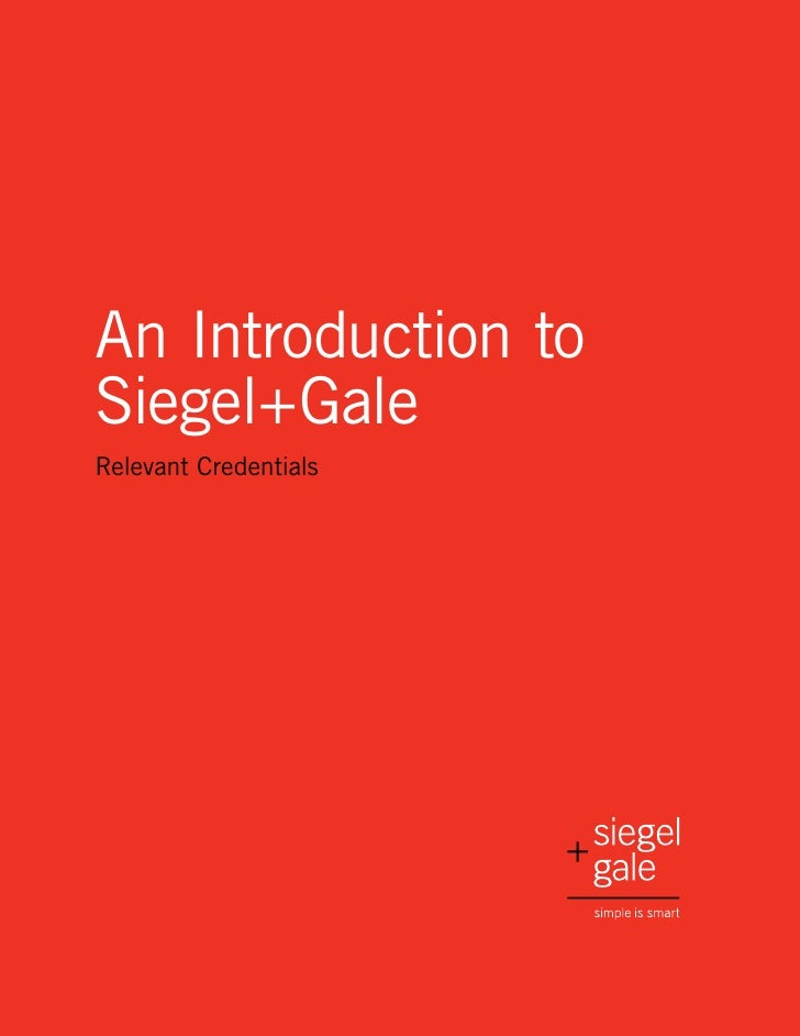 An Introduction to Siegel+Gale Relevant Credentials