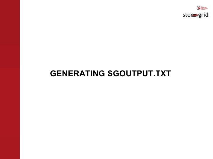 GENERATING SGOUTPUT.TXT