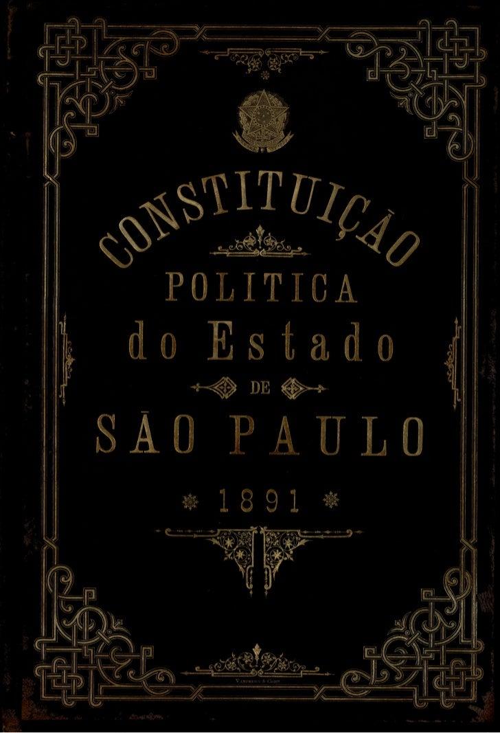 Constituição Política do Estado de São Paulo 1891