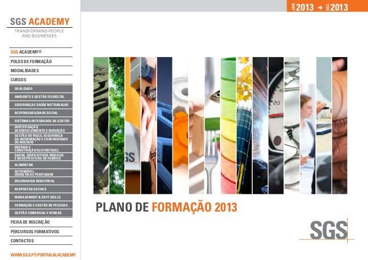 Plano de Formação SGS Academy 2013