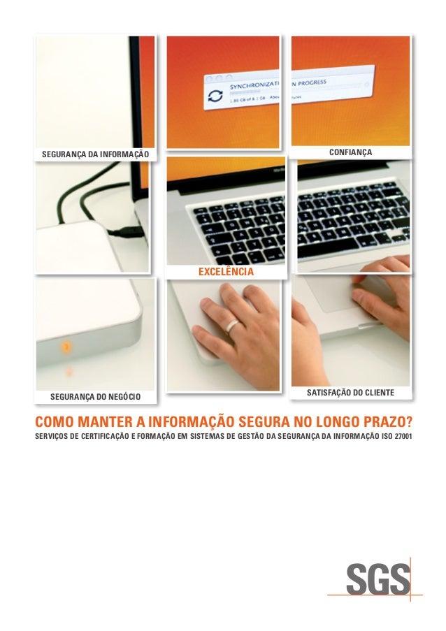 SGS ISO 27001 Certificação de Sistemas de Gestão da Informação