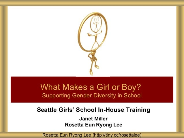 Seattle Girls' School In-House Training Janet Miller Rosetta Eun Ryong Lee What Makes a Girl or Boy? Supporting Gender Div...