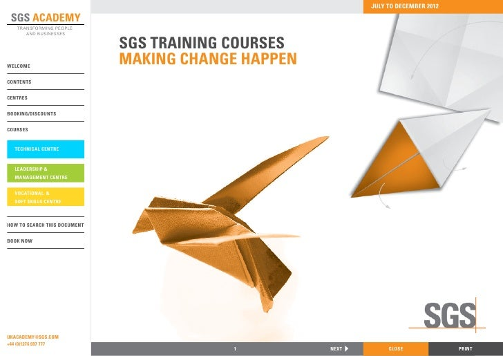 Sgs Training Academy Brochure 2012