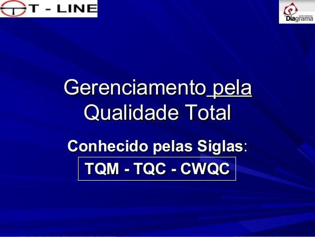 Gerenciamento pela Qualidade Total Conhecido pelas Siglas: TQM - TQC - CWQC