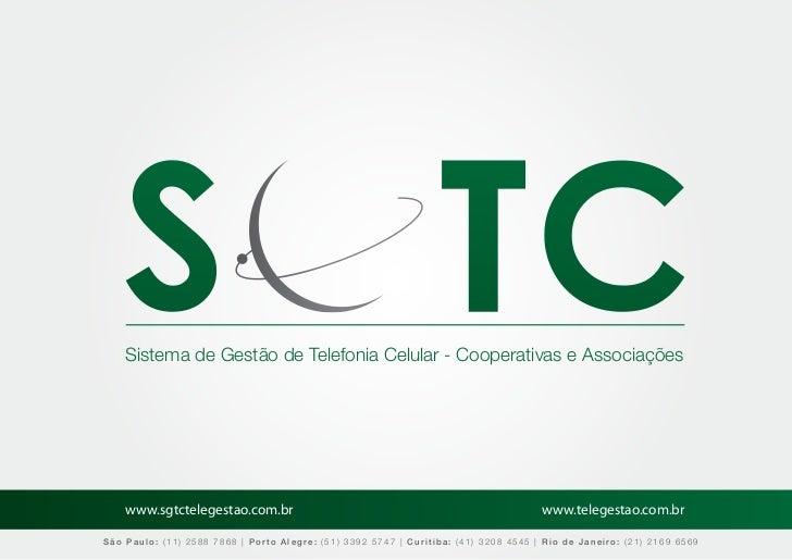 Sistema de Gestão de Telefonia Celular - Cooperativas e Associações    www.sgtctelegestao.com.br                          ...