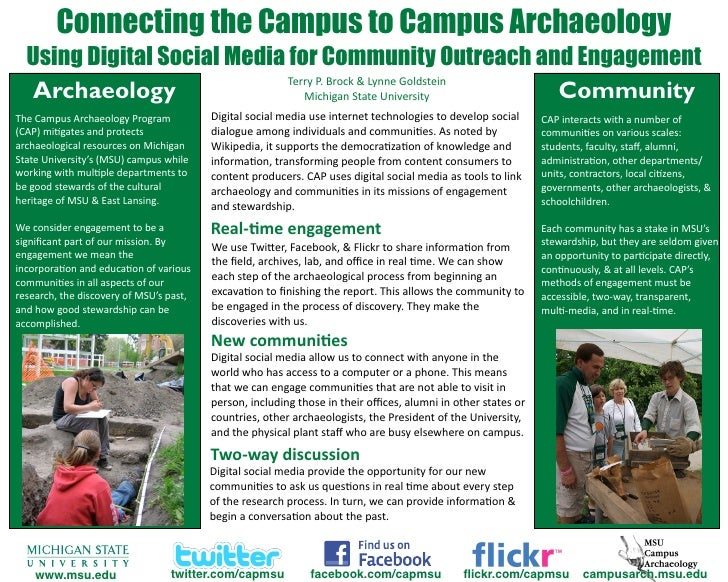 Connecting the Campus to Campus Archaeology   Using Digital Social Media for Community Outreach and Engagement            ...