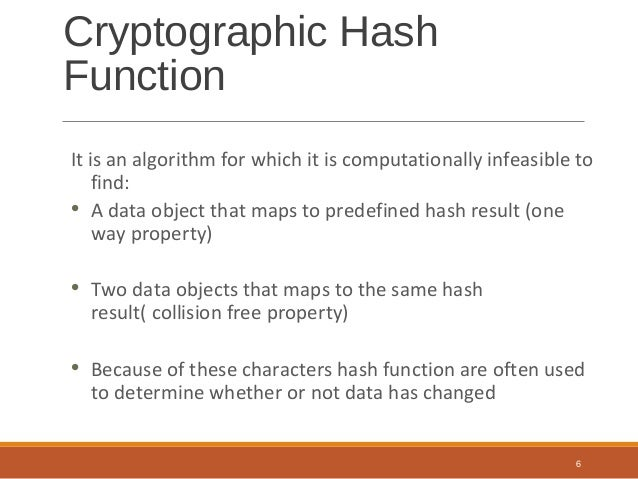 Cryptographic hash function collision