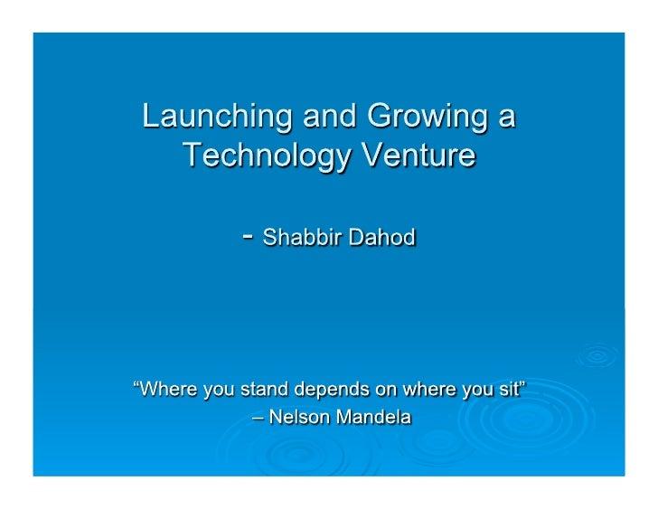 Invention 2 Venture: Shabbir Dahod